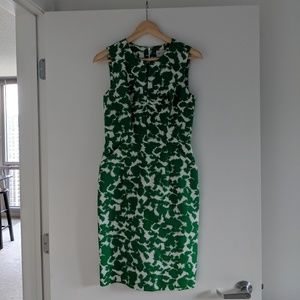 Milly white and green sheath dress
